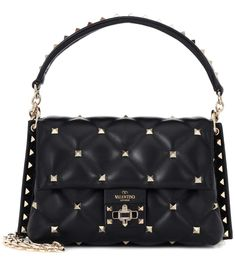 8856455088 Valentino Garavani Candystud Leather Shoulder Bag