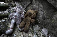 West Park abandoned asylum. Abandoned toys seem the saddest artifacts...what happened to the children who loved them?