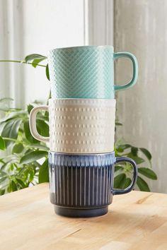 Embossed Ceramic Mug - Urban Outfitters
