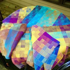 Natalie Labencki Canfield4-Shaft Weaving July 24 · My first towels, designed by Sarah H. Jackson, from 2013 Handwoven. These are a summer and winter pattern, and drove me nearly around the bend! Five towels in the set, and I think I must've https://www.facebook.com/photo.php?fbid=1138096326205604