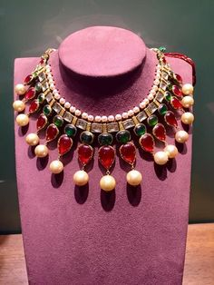 Traditional Indian Champakali necklace with uncut diamonds. Must have for a…