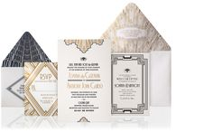 Great Gatsby invitation | Ellington Art Deco Luxury Wedding Invitation : The Wedding Collection ...