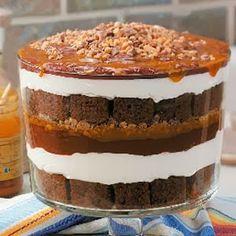 Chocolate Caramel Trifle Recipe #chocolates #sweet #yummy #delicious #food #chocolaterecipes #choco