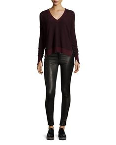 Sweater+&+Jeans+by+rag+&+bone/JEAN+at+Bergdorf+Goodman.