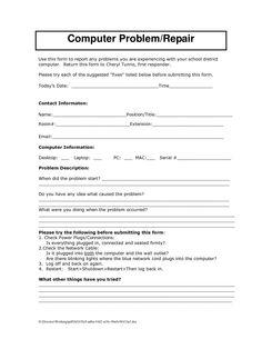 Laptop Repair: Laptop Repair Service Agreement - computer repair ...