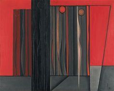 Luc Peire (Belgian, 1916-1994), Conspiration, 1955. Canvas, 81 x 100 cm.