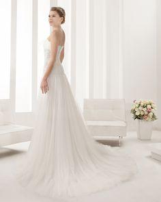7B188 NUBE | Wedding Dresses | 2015 Collection | Alma Novia (back)