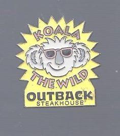 Outback Steakhouse Pin  Koala The Wild  #koala #outbacksteakhouse #pin #koalathewild #accesories #funthings #groovy