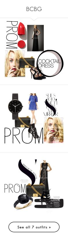 """""""BCBG"""" by chrissybarby ❤ liked on Polyvore featuring NARS Cosmetics, Prom, biygown, Rika, I Love Ugly, Pomellato, Bobbi Brown Cosmetics, Marc Jacobs and MML"""