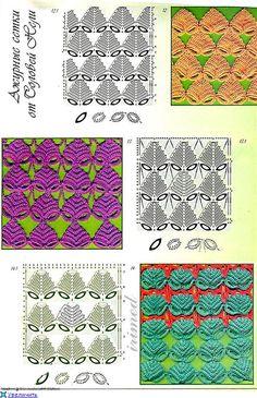 TRICO y CROCHET-madona-mía: Gráficos de puntos (Crochet ) ganchillo-.............E