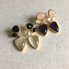More designs for ss16 ... Rose Quartz and amethyst crystal or moonstone and black onyx...semiprecious heaven! Debuting on our new website very soon. #mireve #comingsoon #ss16 #semiprecious #mumpreneur #multitaskingmama #pantone2016 #londondesigner #jewellery #fashion #style #vogue #fashrev #goldisthenewblack #contemporaryart #fblogger #london #earrings #followme #couture #mummystyle #topshop #asos www.mireve.co.uk
