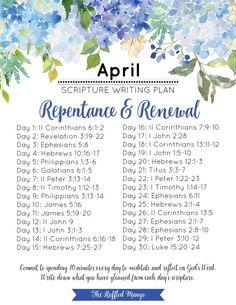 b8e91883cdfb April scripture writing plan Bible Study Journal