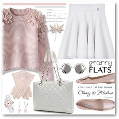 Pink Granny Flats by brendariley-1 on Polyvore featuring Chicwish, Kenzo, Miu Miu, Chanel, Christian Van Sant, Bling Jewelry and grannyflats