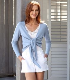 WOOL OVERS Ballet Wrap Cashmere Cardigan