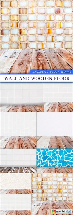 Wall and wooden floor 9X JPEG  stock images