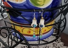 Fashion Jewelry Earrings by tinafalge on Etsy - July 27 2019 at Fashion Jewellery Online, Trendy Fashion Jewelry, Fashion Jewelry Necklaces, Cute Jewelry, Jewelry Crafts, Vintage Jewelry, Jewelry Ideas, Jewelry Rings, Handmade Jewelry