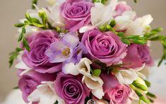 Beautiful Purple White Flowers Bouquet