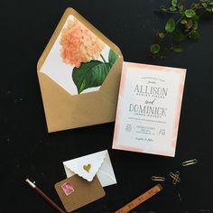 vintage floral wedding invitation liner | Smitten on Paper