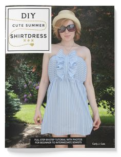 Perfect for Memorial Day, Summer BBQ's, a swimsuit cover-up...take that guy's shirt and make something cute for yourself! Get the full step-by-step tutorial here...