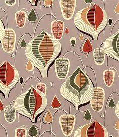 1950s textile design. via @Incognita Nom de Plume.