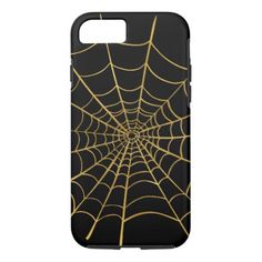 #Gold Spider Web iPhone 8/7 Case - #halloween #party #stuff #allhalloween All Hallows' Eve All Saints' Eve #Kids & #Adaults