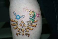 I can't explain to you how bad I want a triforce tattoo just like this!