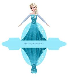 Elsa from Frozen: Free Printable Dress Shaped Box. - Oh My Fiesta! in english Frozen Free, Elsa Frozen, Disney Frozen, Frozen Castle, Frozen Theme Party, Frozen Birthday Party, Disney Princess Birthday, Princess Party, Festa Frozen Fever