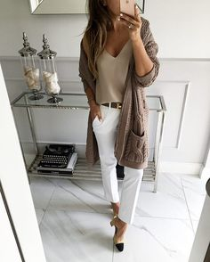 style tips for wearing maxi cardigan - RG OWN by Lu K Vilar - Work Outfits Women Chic Summer Outfits, Casual Work Outfits, Professional Outfits, Mode Outfits, Work Attire, Fashion Outfits, Womens Fashion, Office Outfits, Fashion Fashion