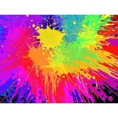Colorful Paint Splats Vector Background ❤ liked on Polyvore featuring backgrounds, pictures, rainbow, random, other, fillers, patterns, effects, texture and splash