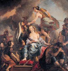 Charles de La Fosse - Le sacrifice d'Iphigénie.