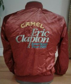 Eric Clapton American Tour 1983 Camel Jacket Men's Small