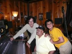 Tom Petty & the Heartbreakers bass maestro Ron Blair, recorded Ashwin Batish and Keshav Batish in his studio in Southern California. This is a pic of them checking out the playback of that recording. The name of the raga - Raga Patmultani