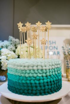 Wish Upon A Star Themed Baby Shower via Kara's Party Ideas KarasPartyIdeas.com #starparty #wishuponastar #starbabyshower (20)