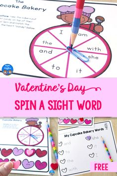 Use this free printable Valentine's Day sight word activity to make memorizing sight words more fun! It's editable, so you can use any words you want your students to practice. Use it with mini erasers or conversation hearts, and then have students fill out the recording sheet too. Sight Word Activities, Hands On Activities, Reading Activities, Guided Reading, Preschool Activities, Dot Letters, Sight Words List, Learn To Spell