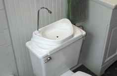 Seen here?  Sink Positive: clean sink water becomes toilet water. genius.