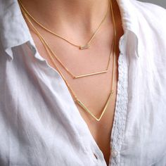 Trio Layered Gold Necklace