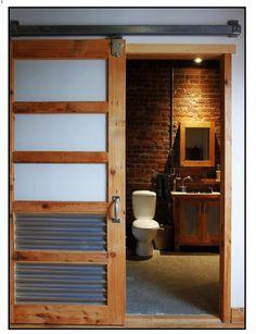 industrial bathroom door