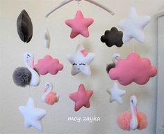 Cygne en forme en bois Crochet Pour Chambre Nursery Playroom-couleur varie