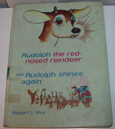 Rudolph, The Red-Nosed Reindeer Antique Children's Book (Code b)