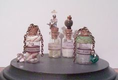 Southern OOAKS: Double...Double..Mix a batch!!! Some of my little handmade potion glass vials.