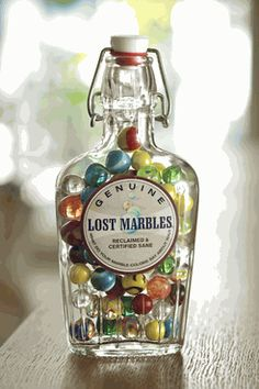 Lost Marbles - I like the yellow one that looks like a sad face, right below the label. Haha