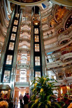 Elevator on Jewel of the Seas. Photo by timelessmemoriestravel.com. #royalcaribbean #cruising