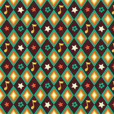 Circus pattern   brown fabric by irrimiri on Spoonflower - custom fabric