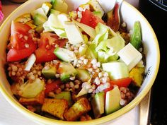 Spring Salad with tofu