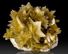 """2.9"""" Golden Yellow STAR MICA Large 5-Point Star Shaped Crystals Brazil / Mineral Friends <3"""