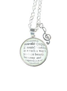 LOVEsick Music Definition Necklace,
