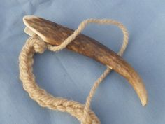 A Viking lucet, an ancient cord maker, made from deer horn