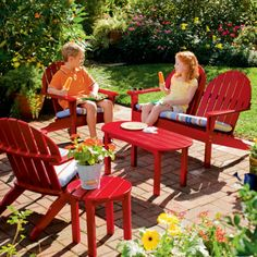 Kids Outdoor Furniture Collection Adirondack Loveseat Fun For Play