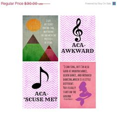 Pitch Perfect Quote Print Set on Etsy