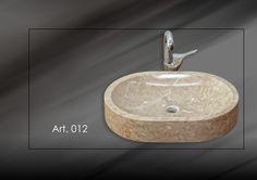 #Lavabo in #marmo #Botticino art 012. E' un lavabo da appoggio e non ad incasso. Le dimensioni sono: cm 55x40, H: cm 10.